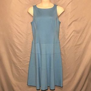 Anne Klein fit n flare light blue dress size 16